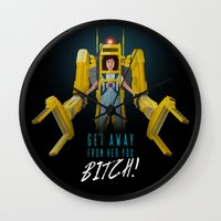 ripley Wall Clocks featuring Get Away From Her You BITCH! by DWatson