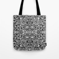 zentangle Tote Bags featuring Zentangle  by Zenspire Designs