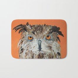 Wise Owl.  Hootie, Who, Who Bath Mat