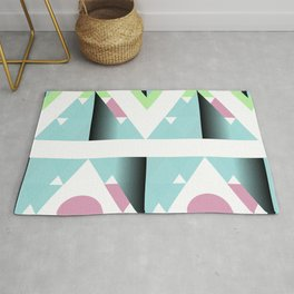 Malibu Triangles - Mid-Century Modern Geometry Rug