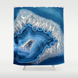 Blue agate 3064 Shower Curtain