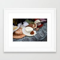 hats Framed Art Prints featuring Hats by L'Ale shop