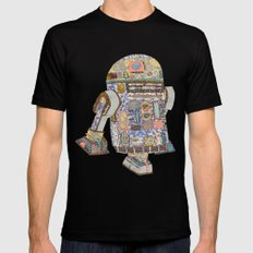 R2D2 Crashed Into A Flower Shop Black X-LARGE Mens Fitted Tee