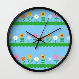 Kawaii Flower Field Wall Clock
