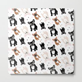 French Bulldogs for Frenchie Lovers Metal Print