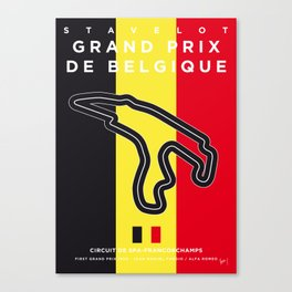 My F1 FRANCORCHAMPS Race Track Minimal Poster Canvas Print