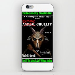 """Human Cruelty"" book cover art with signature iPhone Skin"
