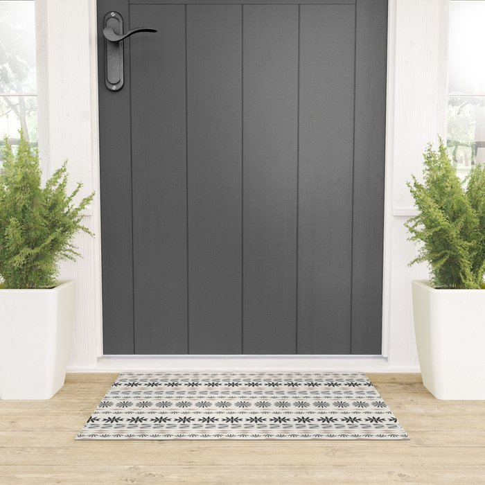 Nordic winter pattern Welcome Mat