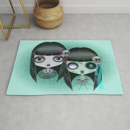 Zombie Doll The Dark Side Rug