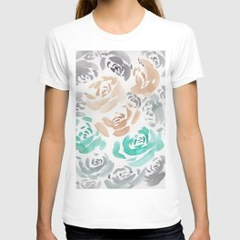 1     190412 Flower Abstract Watercolour Painting T-shirt