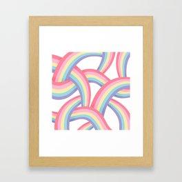 Rainbow abstract pattern Framed Art Print