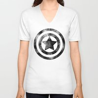 steve rogers V-neck T-shirts featuring Steve Rogers 008 by TheTreasure