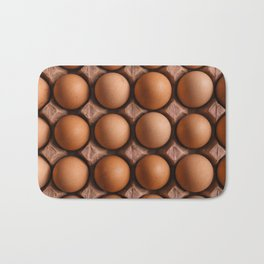 Brown eggs pattern Bath Mat