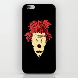 Evil Clown Hand Draw Illustration iPhone Skin