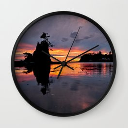 Lincoln City Sunset  6/23/15 Wall Clock