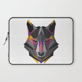 Triangular Geometric Wolf Head Laptop Sleeve