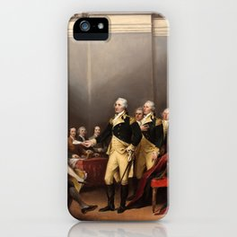 General George Washington Resigning His Commission by John Trumbull (1824) iPhone Case