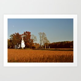 Little White Church  Art Print