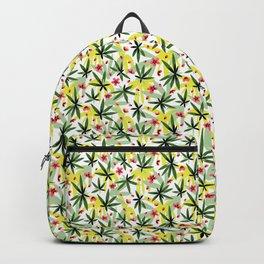 Seamless plum blossom bamboo jungle pattern Backpack