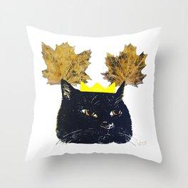 KITTY AUTUMN GODDESS YO Throw Pillow