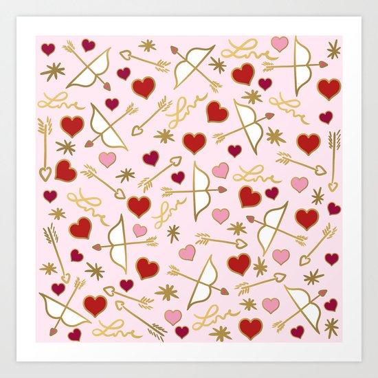 Cupid Love (soft pink) Art Print