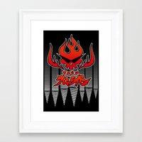 gurren lagann Framed Art Prints featuring gurren lagann by tama-durden