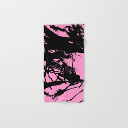 Pink Base black Hand & Bath Towel