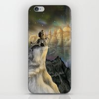 northern lights iPhone & iPod Skins featuring Northern Lights by Lyndsey Green Illustration