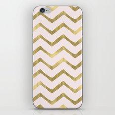 Gold Pink Chic Chevron iPhone & iPod Skin