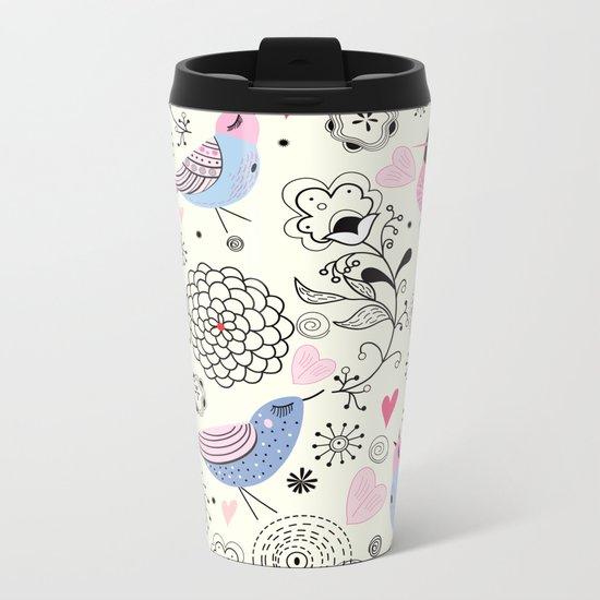 pattern 09 Metal Travel Mug