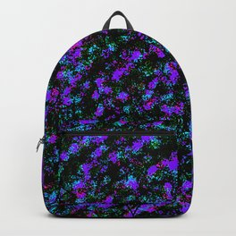 Totally Awesome Spray Paint Purple Green Fuchsia Backpack
