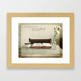 Study His Word Framed Art Print
