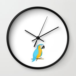 You Don't Like Parrots Squawk Off Insult T-Shirt Wall Clock