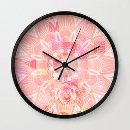 Abstract Peach Flower Wall Clock