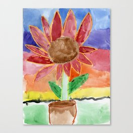 Flower in the Sunset Canvas Print