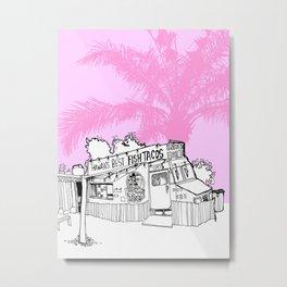 pink fish tacos Metal Print