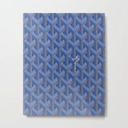 Goyard Blue Metal Print