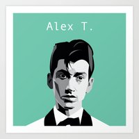 arctic monkeys Art Prints featuring Arctic Monkeys, Alex Turner by Morgane Dagorne