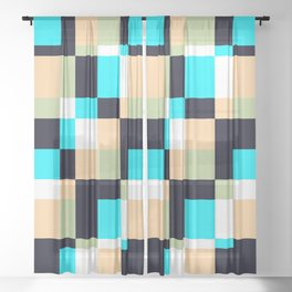 Genuine Abstract Pool Sakabashira Sheer Curtain