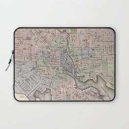 Vintage Map of Baltimore MD (1876) Laptop Sleeve