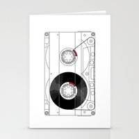 cassette Stationery Cards featuring Cassette by T.K.O.