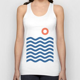 Nautical 02 Seascape Unisex Tank Top