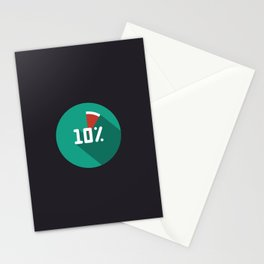 "Illustration ""percentage - 10%"" with long shadow in new modern flat design Stationery Cards"