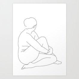 Nude life drawing figure - Brit Art Print