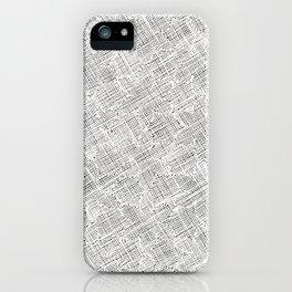 Ink Weaves: White Alabaster iPhone Case
