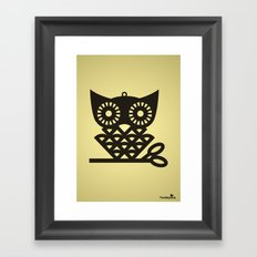 Yellow Hoot Framed Art Print