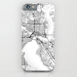 Jacksonville Map White iPhone Case
