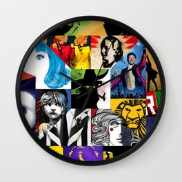 Musicals Collage Wall Clock