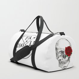 Rose Skull Duffle Bag
