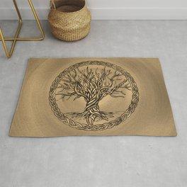 Tree of life -Yggdrasil -Sepia Canvas Rug